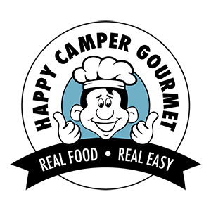 [The logo for the meals-ready-to-eat producer Happy Camper Gourmet]